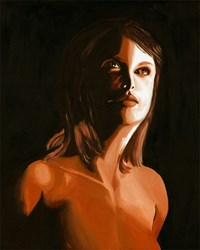 Lady In Brown Fine Art Print