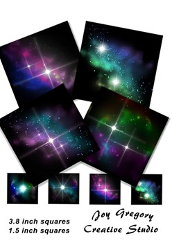 Coaster Images Galaxy Collection 1 - 3.8 x 3.8 Inches
