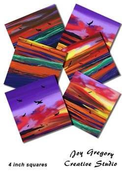 Coaster Images Sunset 4x4 inch