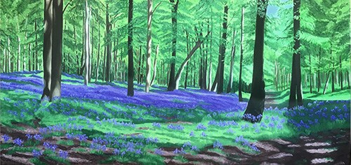 Painting Bluebell Woods Finished