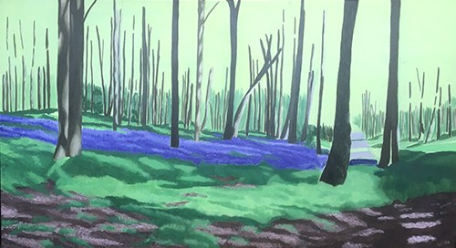 Painting Bluebell Woods - Main Areas