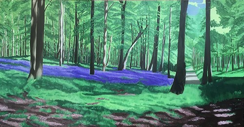 Painting Bluebell Woods - More Detailed