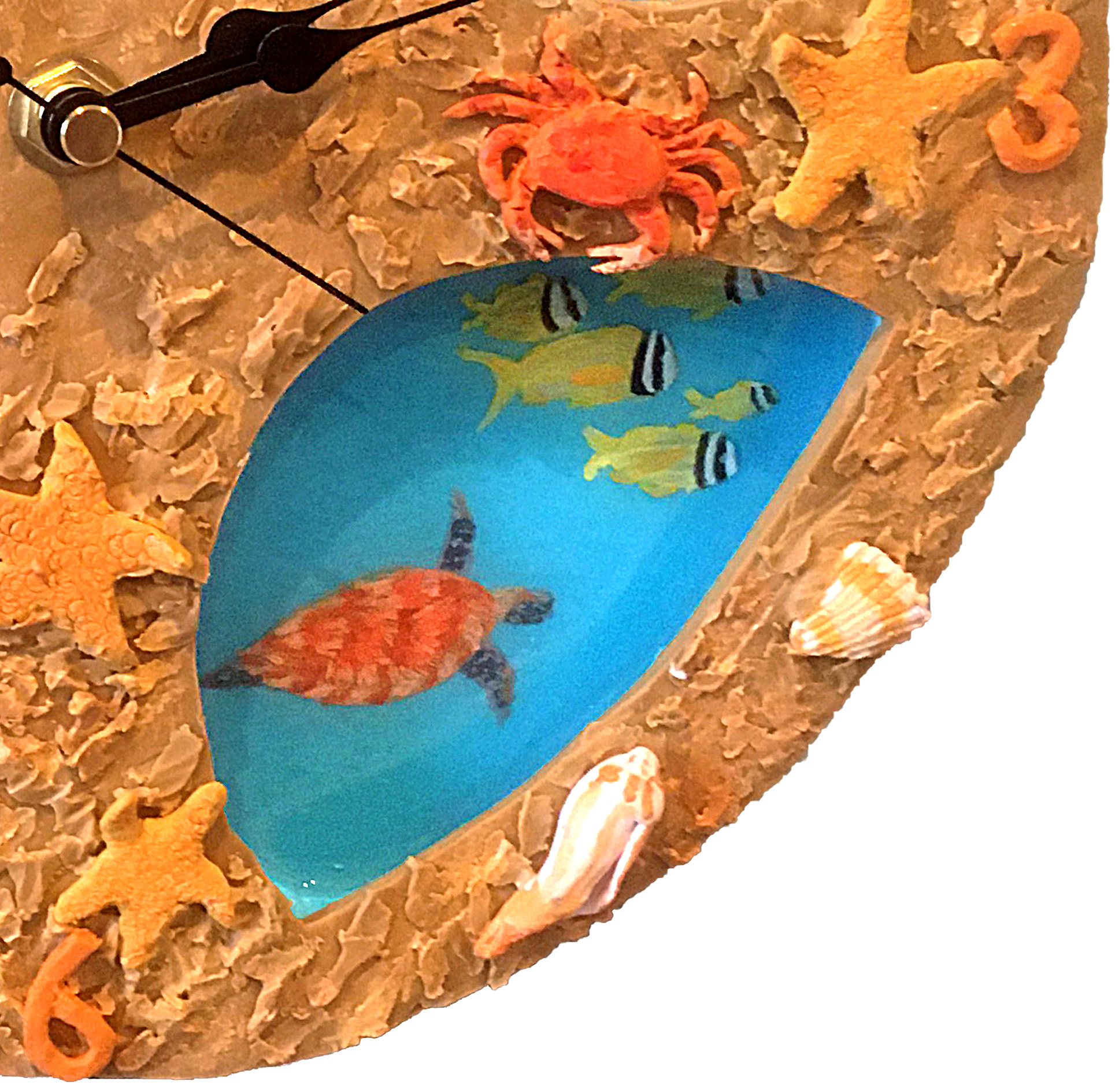 Handmade Sea, Fish and Sand Wall Clock