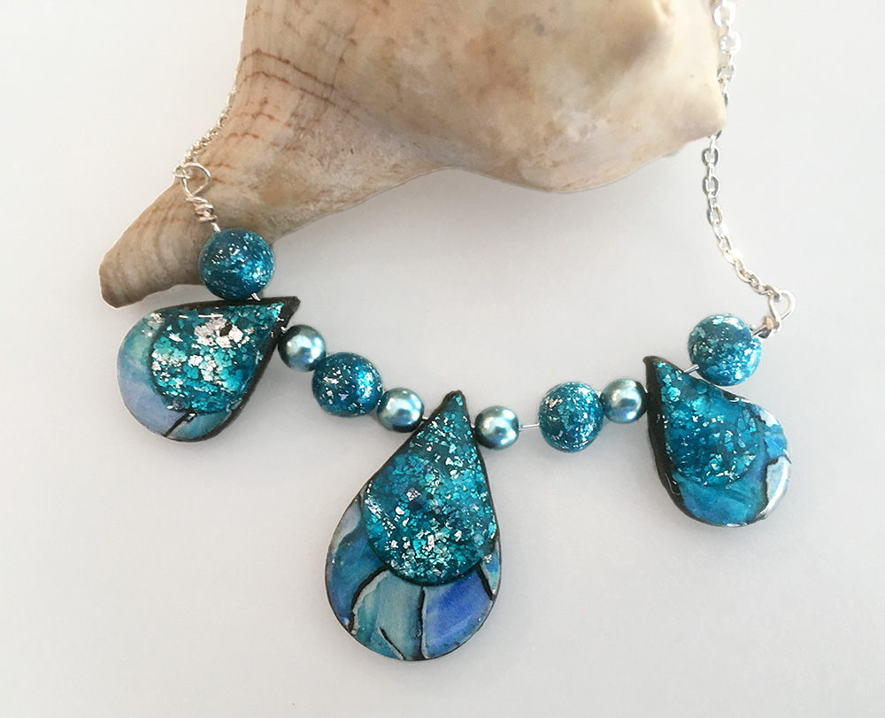 Sparkly Blue and Turquoise Necklace