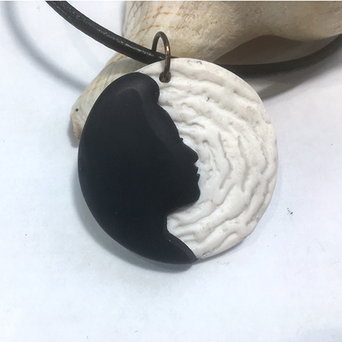 Black and White Silhouette Pendant Necklaces