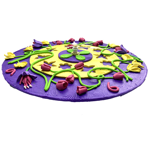 Summer Garden Flower Wall Clock